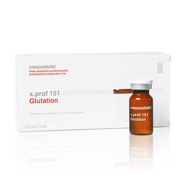 Dung dịch giảm sắc tố, chống oxy hóa, làm trắng da, tăng cường hệ miễn dịch Mesoestetic X.prof 151 Glutation