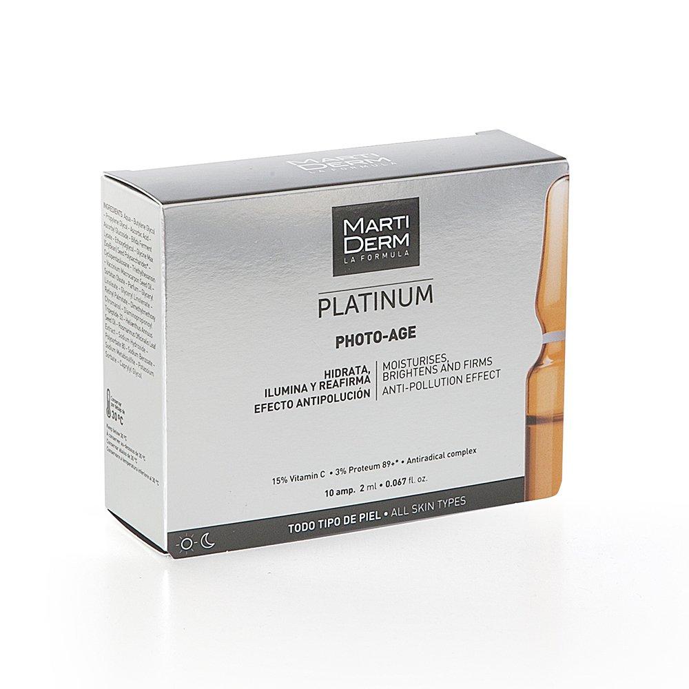 Tinh chất dưỡng ẩm, sáng da và chống lão hóa MartiDerm Platinum Photo-Age (10 ống)