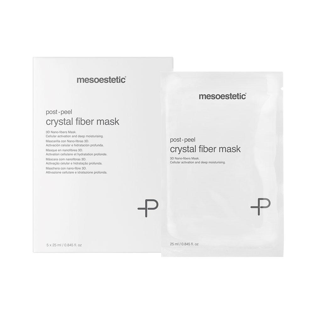 Mặt nạ dưỡng ẩm, tái tạo làn da Mesoestetic Post-peel Crystal Fiber Mask