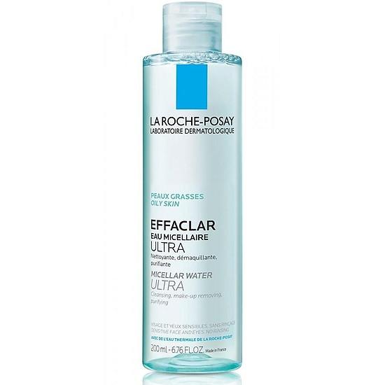 Nước tẩy trang cho da dầu La Roche-Posay Effaclar Micellar Water Ultra Oily Skin 200ml