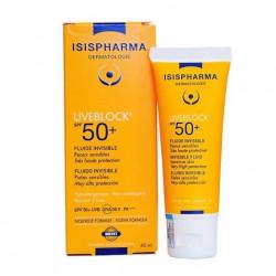 Kem chống nắng cho da nhạy cảm không màu Isis Pharma Uveblock SPF50 Invisible