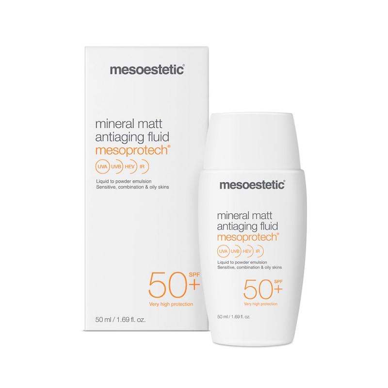 Nhũ tương chống nắng Mesoestetic Mesoprotech Mineral Matt SPF50