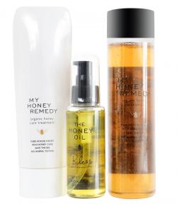 Bộ dầu gội mật ong chống rụng tóc và phục hồi tóc hư tổn Acacia My Honey Remedy
