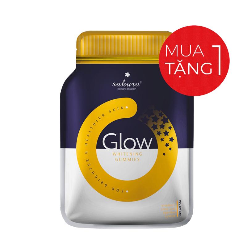 Kẹo dẻo hỗ trợ làm trắng da Sakura Glow Whitening Gummies