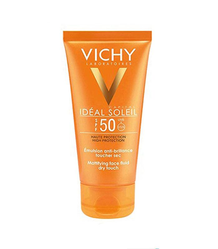 Kem chống nắng bảo vệ da mặt, không gây nhờn rít SPF50, PA+++ Vichy Ideal Soleil Mattifying Face Fluid Dry Touch SPF50 UVB+UVA