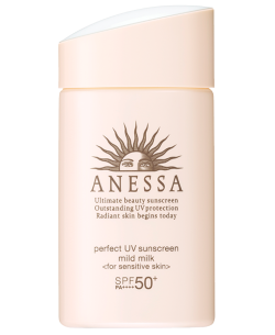 Sữa chống nắng dịu nhẹ cho da nhạy cảm Anessa Perfect UV Sunscreen Mild Milk SPF 50+ PA++++