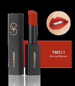 Son Lì Matte Revolution Yumeisakura Kiss me Maroon YMS11- Đỏ gạch