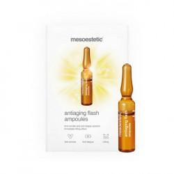 Tinh chất chống lão hóa da, nâng cơ tức thì Mesoestetic Antiaging Flash Ampoules