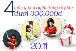 4 món quà 20.11 ý nghĩa tặng cô giáo dưới 900 nghìn đồng
