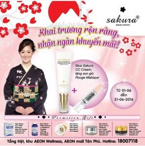 Sakura khuyến mãi tưng bừng nhân buổi ra mắt cửa hàng bán lẻ tại AEON WELLNESS Tân Phú