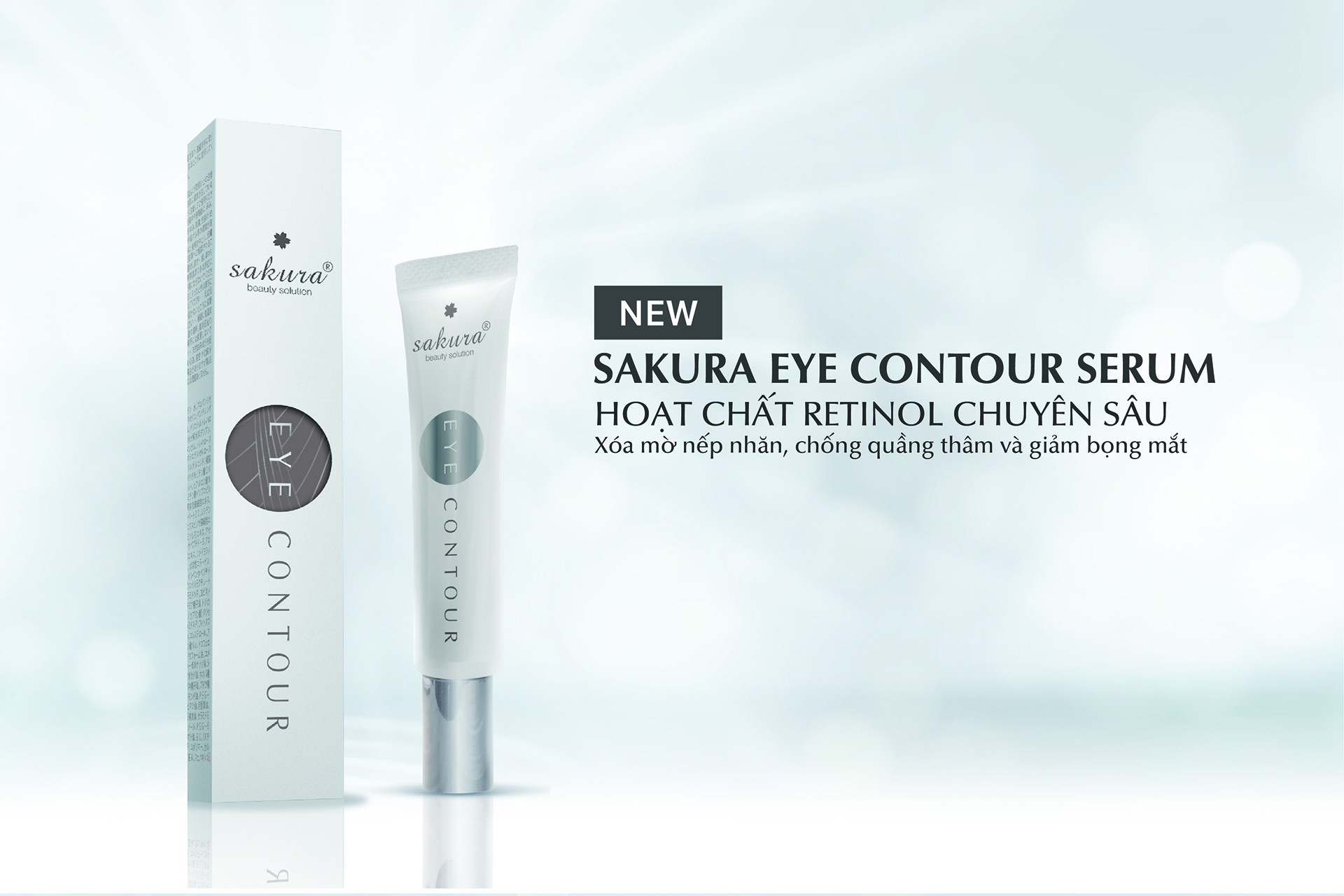 Review Serum giảm nhăn, mờ thâm quầng và giảm bọng mắt Sakura Eye Contour