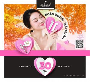 Khuyến mãi Tháng 11: Sakura sale up 30% - Nhận cài áo cao cấp trị giá 499,000VND