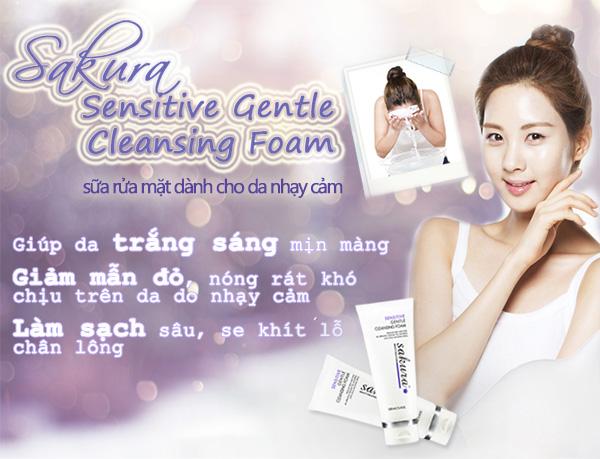 sữa rửa mặt làm sạch da dành cho da nhạy cảm