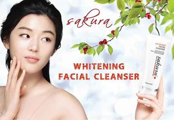 sữa rửa mặt Sakura mang đến làn da trắng sáng lên từng ngày