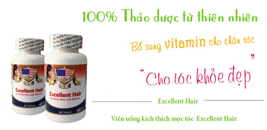 viên uống excellent hair cho mái tóc thêm dày và chắc khỏe