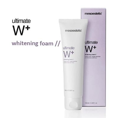 sua-rua-mat-trang-da-mesoestetic-ultimate-w-whitening-foam