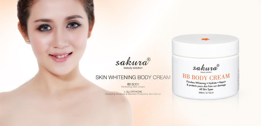 Kem dưỡng trắng da trang điểm toàn thân Sakura BB Body Cream
