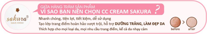 Kem trang điểm Sakura CC Cream Flawless Control Base- Cho làn da trắng sáng, mịn màng, hoàn hảo bất ngờ trong nháy mắt