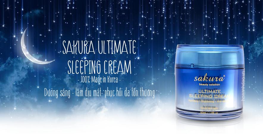 Mặt nạ ngủ làm dịu và trẻ hoá làn da Sakura Ultimate Sleeping Cream