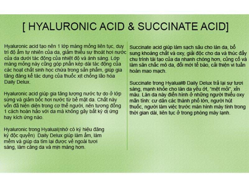 đặc tính của Hyaluronic acid