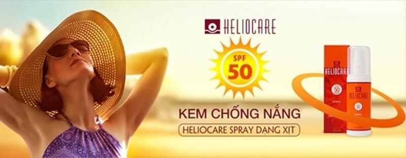 kem chống nắng dạng xịt heliocare spray spf50