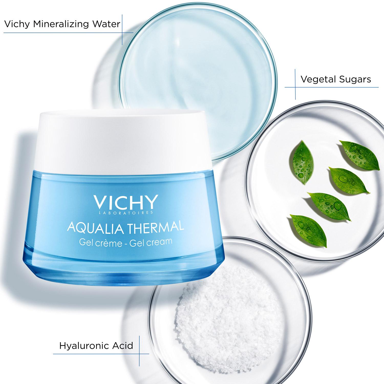 Kem dưỡng ẩm, cấp nước cho da tươi sáng dạng gel Vichy Aqualia Thermal Rehydrating Cream - Gel