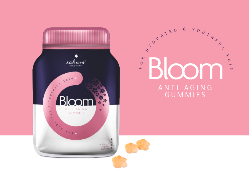 Kẹo dẻo bổ sung Collagen Sakura Bloom Anti - Aging Collagen Gummies